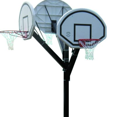 In Ground Three Hoop Basketball Post By Hotshot Sport