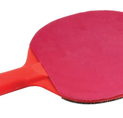 Poly Plastic Table Tennis Bat Smooth Rubber By Hotshot Sport