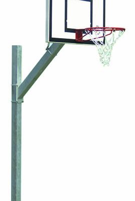 Tough Galvanized Inground Basketball Post By Hotshot Sport