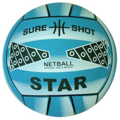 Size 4 Rubber Netball Blue By Hotshot Sport
