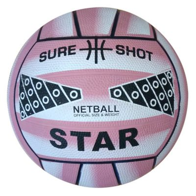 Size 4 Rubber Netball Pink By Hotshot Sport