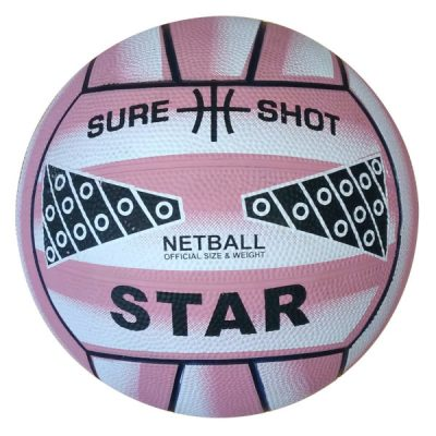 Size 5 Rubber Netball Pink By Hotshot Sport
