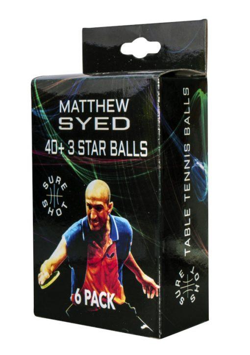 3 Star Match Quality Table Tennis Balls By Hotshot Sport