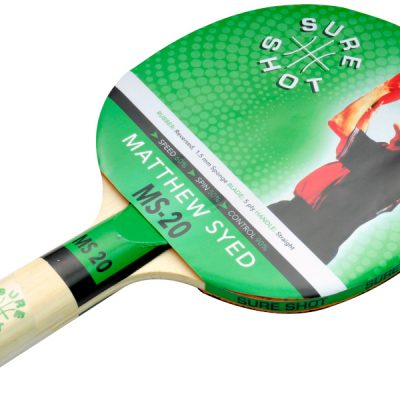 Smooth Rubber Ping Pong Bat By Hotshot Sport