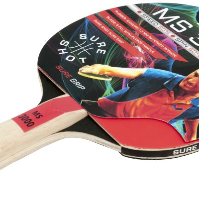 Smooth Rubber Ping Pong Racket By Hotshot Sport