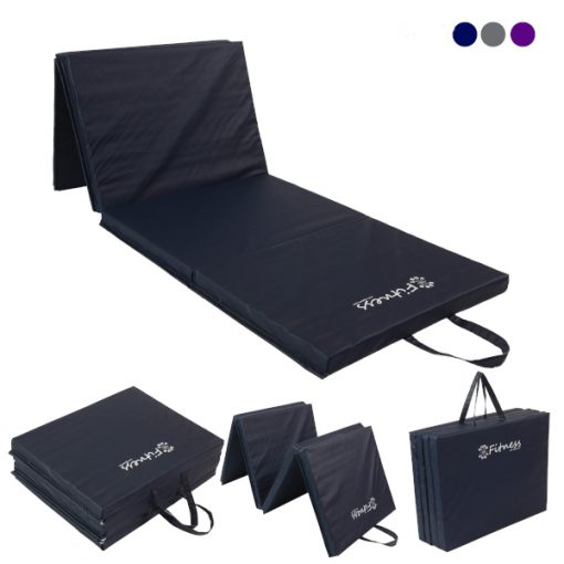 Folding Navy Gym Mat 40mm From Hotshot Sport