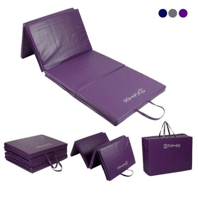 Folding Purple Gym Mat 40mm By Hotshot Sport