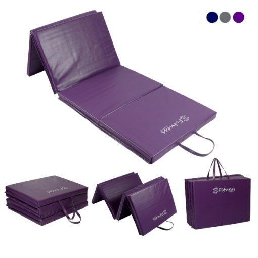 Folding Purple Gym Mat 40mm By Hotshot Sport