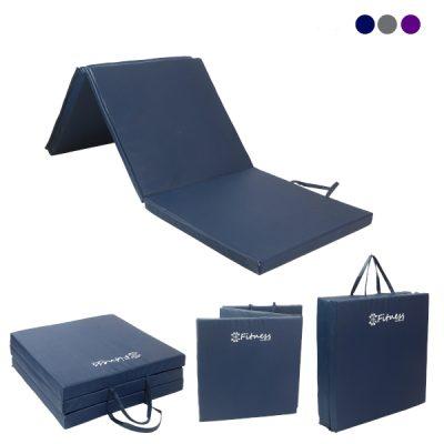 Three Fold 30mm Gym Mat Navy By Hotshot Sport