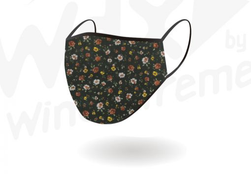 Face Mask Reusable Black With Colored Pattern By Hotshot Sport