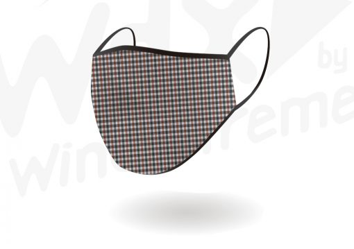 Face Mask Reusable Black White And Red Check By Hotshot Sport
