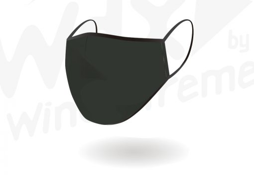 Face Mask Reusable Plain Black From Hotshot Sport