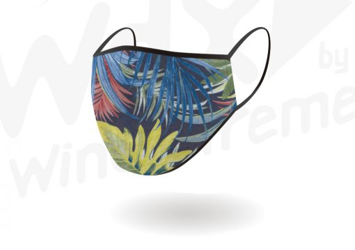 Reusable Face Mask Blue Floral Pattern By Hotshot Sport By Hotshot Sport