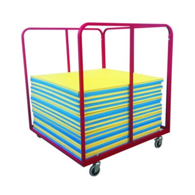 Mobile Safe Gym Mat Trolly By Hotshot Sport