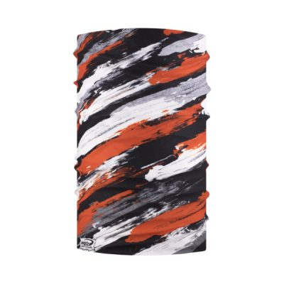 Multicolored Snood Red Black White Grey By Hotshotsport