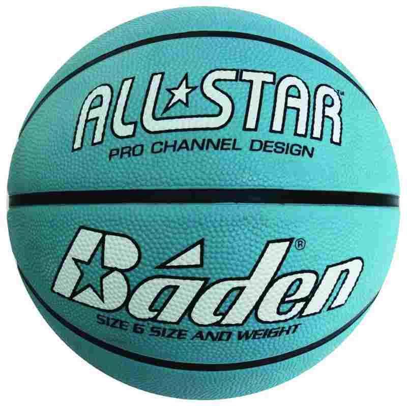 Rubber Basketball Light Blue