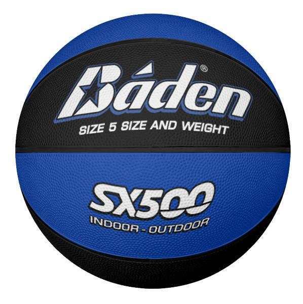 Rubber Basketball Size 5 Blue Black