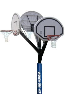 Three Hoop Basketball Unit